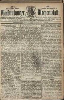Waldenburger Wochenblatt, Jg. 30, 1884, nr 11
