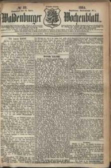 Waldenburger Wochenblatt, Jg. 30, 1884, nr 32