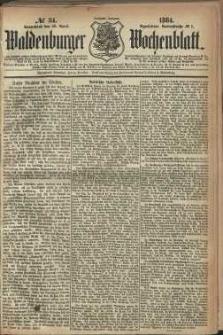 Waldenburger Wochenblatt, Jg. 30, 1884, nr 34