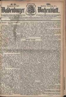 Waldenburger Wochenblatt, Jg. 30, 1884, nr 35