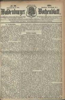 Waldenburger Wochenblatt, Jg. 30, 1884, nr 38