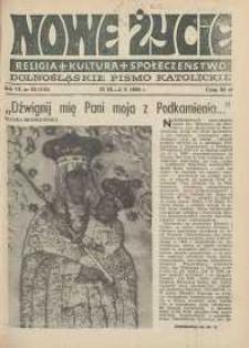 Nowe Życie: dolnośląskie pismo katolickie: religia, kultura, społeczeństwo, 1988, nr 20 (135)