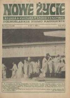 Nowe Życie: dolnośląskie pismo katolickie: religia, kultura, społeczeństwo, 1988, nr 21 (136)