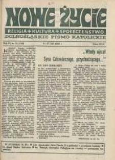 Nowe Życie: dolnośląskie pismo katolickie: religia, kultura, społeczeństwo, 1988, nr 25 (140)