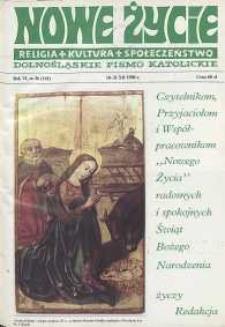 Nowe Życie: dolnośląskie pismo katolickie: religia, kultura, społeczeństwo, 1988, nr 26 (141)