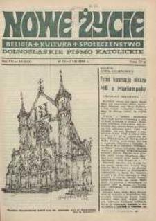 Nowe Życie: dolnośląskie pismo katolickie: religia, kultura, społeczeństwo, 1989, nr 14 (155)