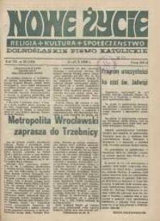 Nowe Życie: dolnośląskie pismo katolickie: religia, kultura, społeczeństwo, 1989, nr 22 (163)