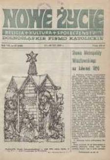 Nowe Życie: dolnośląskie pismo katolickie: religia, kultura, społeczeństwo, 1989, nr 27 (168)