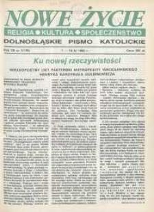 Nowe Życie: dolnośląskie pismo katolickie: religia, kultura, społeczeństwo, 1990, nr 7 (175)