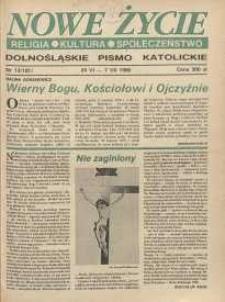 Nowe Życie: dolnośląskie pismo katolickie: religia, kultura, społeczeństwo, 1990, nr 13 (181)