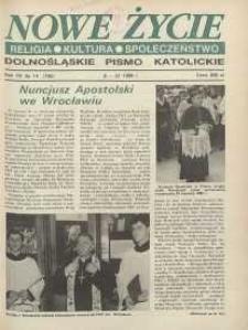 Nowe Życie: dolnośląskie pismo katolickie: religia, kultura, społeczeństwo, 1990, nr 14 (182)