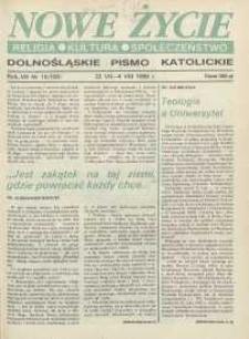 Nowe Życie: dolnośląskie pismo katolickie: religia, kultura, społeczeństwo, 1990, nr 15 (183)