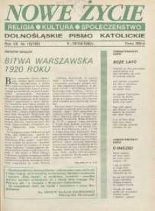 Nowe Życie: dolnośląskie pismo katolickie: religia, kultura, społeczeństwo, 1990, nr 16 (183)