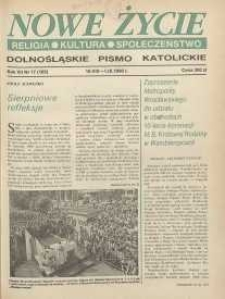 Nowe Życie: dolnośląskie pismo katolickie: religia, kultura, społeczeństwo, 1990, nr 17 (185)