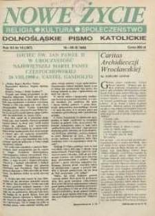 Nowe Życie: dolnośląskie pismo katolickie: religia, kultura, społeczeństwo, 1990, nr 19 (187)
