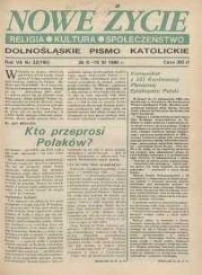 Nowe Życie: dolnośląskie pismo katolickie: religia, kultura, społeczeństwo, 1990, nr 22 (190)