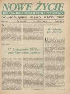 Nowe Życie: dolnośląskie pismo katolickie: religia, kultura, społeczeństwo, 1990, nr 23 (191)