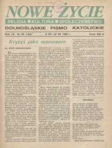 Nowe Życie: dolnośląskie pismo katolickie: religia, kultura, społeczeństwo, 1990, nr 25 (193)