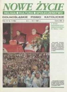 Nowe Życie: dolnośląskie pismo katolickie: religia, kultura, społeczeństwo, 1991, nr 1 (195)