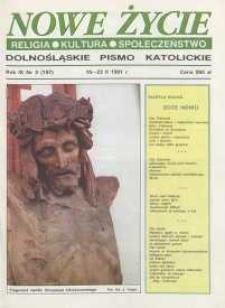 Nowe Życie: dolnośląskie pismo katolickie: religia, kultura, społeczeństwo, 1991, nr 3 (197)