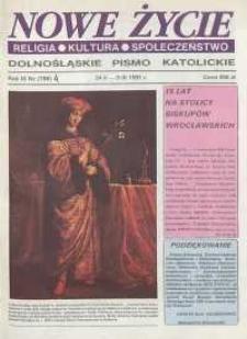 Nowe Życie: dolnośląskie pismo katolickie: religia, kultura, społeczeństwo, 1991, nr 4 (198)