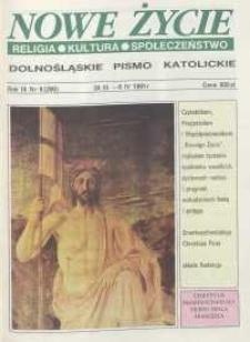 Nowe Życie: dolnośląskie pismo katolickie: religia, kultura, społeczeństwo, 1991, nr 6 (200)