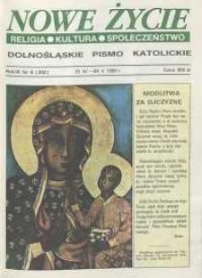 Nowe Życie: dolnośląskie pismo katolickie: religia, kultura, społeczeństwo, 1991, nr 8 (202)