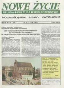 Nowe Życie: dolnośląskie pismo katolickie: religia, kultura, społeczeństwo, 1991, nr 10 (204)