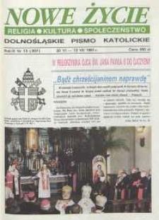 Nowe Życie: dolnośląskie pismo katolickie: religia, kultura, społeczeństwo, 1991, nr 13 (207)