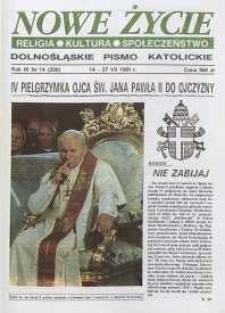 Nowe Życie: dolnośląskie pismo katolickie: religia, kultura, społeczeństwo, 1991, nr 14 (208)