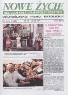 Nowe Życie: dolnośląskie pismo katolickie: religia, kultura, społeczeństwo, 1991, nr 15 (209)