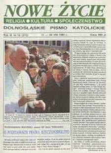 Nowe Życie: dolnośląskie pismo katolickie: religia, kultura, społeczeństwo, 1991, nr 16 (210)