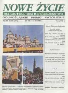 Nowe Życie: dolnośląskie pismo katolickie: religia, kultura, społeczeństwo, 1991, nr 17 (211)