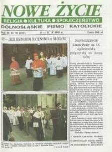 Nowe Życie: dolnośląskie pismo katolickie: religia, kultura, społeczeństwo, 1991, nr 18 (212)