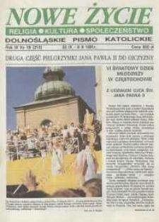 Nowe Życie: dolnośląskie pismo katolickie: religia, kultura, społeczeństwo, 1991, nr 19 (213)