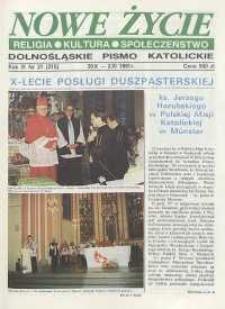 Nowe Życie: dolnośląskie pismo katolickie: religia, kultura, społeczeństwo, 1991, nr 21 (215)