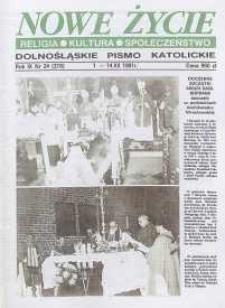 Nowe Życie: dolnośląskie pismo katolickie: religia, kultura, społeczeństwo, 1991, nr 24 (218)