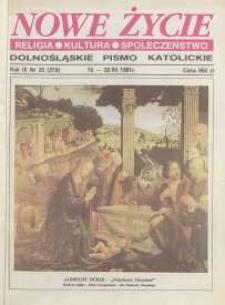 Nowe Życie: dolnośląskie pismo katolickie: religia, kultura, społeczeństwo, 1991, nr 25 (219)