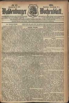 Waldenburger Wochenblatt, Jg. 30, 1884, nr 57