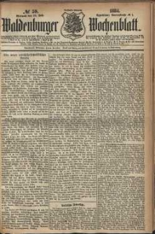 Waldenburger Wochenblatt, Jg. 30, 1884, nr 59