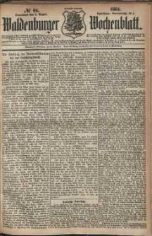 Waldenburger Wochenblatt, Jg. 30, 1884, nr 64