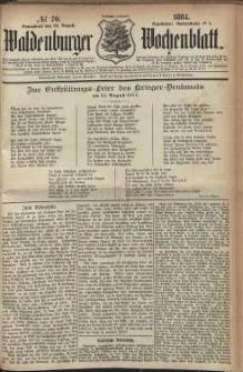 Waldenburger Wochenblatt, Jg. 30, 1884, nr 70