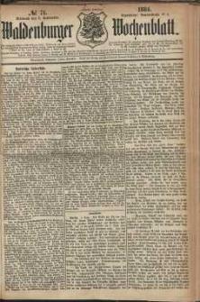 Waldenburger Wochenblatt, Jg. 30, 1884, nr 71