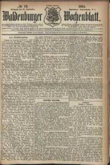 Waldenburger Wochenblatt, Jg. 30, 1884, nr 73