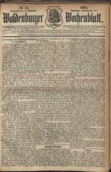 Waldenburger Wochenblatt, Jg. 30, 1884, nr 74