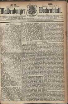 Waldenburger Wochenblatt, Jg. 30, 1884, nr 79