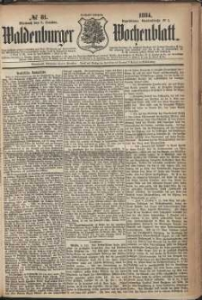 Waldenburger Wochenblatt, Jg. 30, 1884, nr 81
