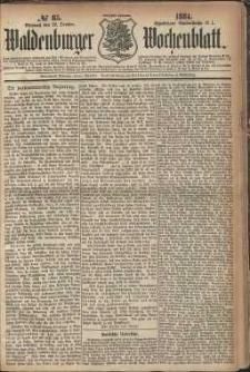 Waldenburger Wochenblatt, Jg. 30, 1884, nr 85