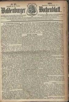 Waldenburger Wochenblatt, Jg. 30, 1884, nr 87