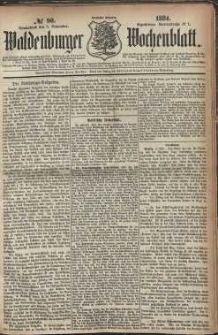 Waldenburger Wochenblatt, Jg. 30, 1884, nr 90